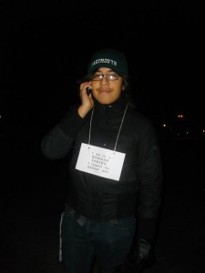 Eduardo on hunger strike for the Dream Act, during his freshman year at Dartmouth.