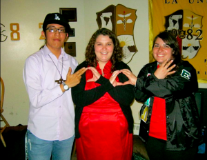 Greek Unity photo with Eduardo, Terra Branson '10, and myself (Autumn White Eyes)