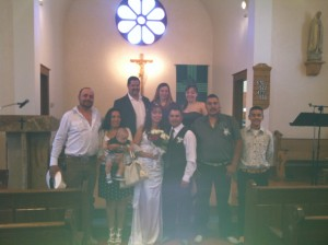 Mirtha and her family at her wedding