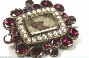 Victorian mourning jewelry with human hair