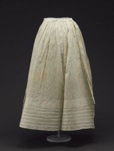 Dimity petticoat of the period