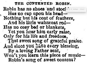 The Contented Robin poem