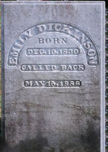 Dickinson's headstone