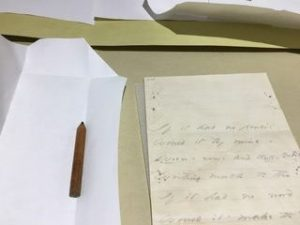 pencil enclosed in letter