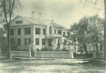 Dickinson's house on North Pleasant Street (photo ca. 1870). Jones Library Special Collections