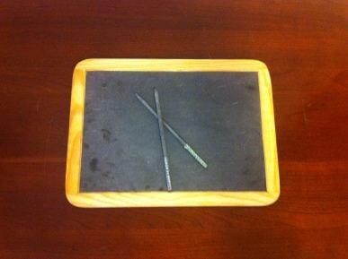 slate and pencils