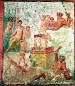 Drunken Hercules, Roman, 1st century (fresco). Roman, (1st century AD) / House of Siricus
