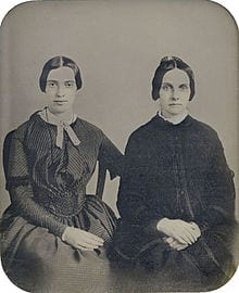 In September 2012, Amherst College Archives and Special Collections unveiled this daguerreotype, proposing it to be Dickinson and her friend Kate Scott Turner (ca. 1859); it has not been authenticated.
