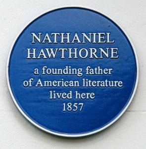 Plaque in Leamington, England