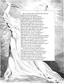 "A page from Young's ""Night Thoughts,"" illustrated by William Blake"