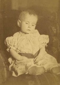 Victorian photograph of dead child