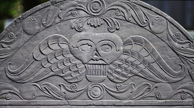 winged skull grave imager