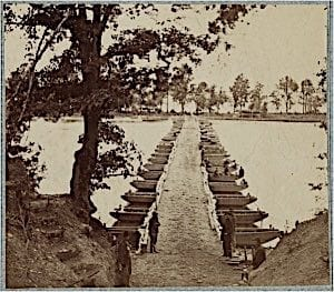 Union engineers built the pontoon bridges at Franklin Crossing where Gen. Franklin spent two days crossing with the left wing of the Union army for the Battle of Fredericksburg.