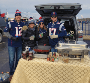 Image of typical tailgate at a Patriots Game