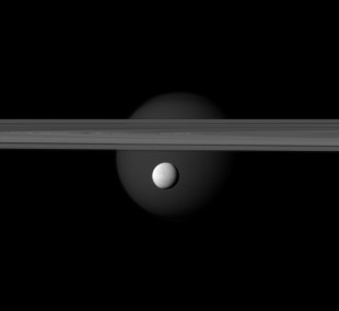 Enceladus, Titan and rings