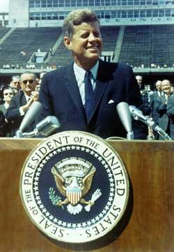 JFK at Rice Stadium