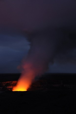 Kilauea at dusk