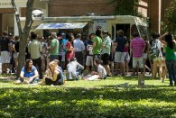 The Office of Alumni Affairs hosted a picnic for new alumni – 2013 graduating seniors -- in front of Huff House May 8.