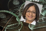 Rice alumna and trustee Subha Barry '85 won a Distinguished Alumni Award at the 2013 Laureates Celebration Dinner May 11 and talked about how much Rice has meant to her during her acceptance speech.