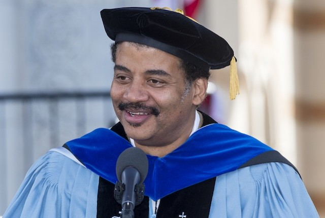Astrophysicist Neil deGrasse Tyson talks about what drives America's exploration of space at Rice's 100th commencement.