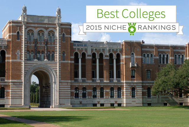Rice University is No. 5 in a new national ranking of colleges by Niche.com that is based both on student surveys and hard data.