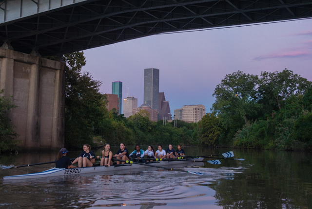 Rice Crew, the university's rowing club team, has a new home in Buffalo Bayou.