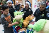 The Rice University Police Department collected new, unwrapped toys and games for children at Shriners Hospital and delivered the items in person Dec. 17.