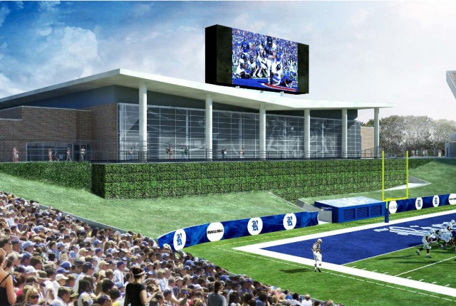 The Rice Board of Trustees has approved a proposal to build a student-athlete performance and development building in the north end of Rice Stadium.