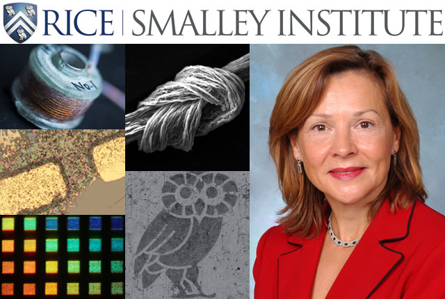 Rice University today named nanotechnology pioneer Naomi Halas director of the Richard E. Smalley Institute for Nanoscale Science and Technology. Halas, one of Rice's most cited and renowned researchers, said she plans to expand the institute's scope, engage more faculty and students and foster new collaborations at the frontiers of science.