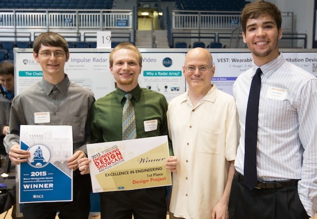 Student teams competed for the university's top engineering design prizes in the annual Showcase on April 16.