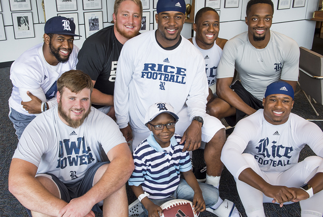"With the help of Team IMPACT, Rice University head football coach David Bailiff inked 7-year-old Fre'derick ""Ziggy"" Stoval-Redd of Mississippi to a national letter of intent."