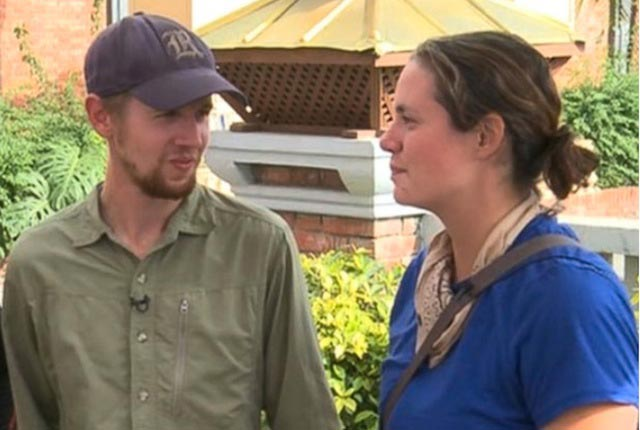 Two Rice University alumni, Della Hoffman and Eric Jean, are safe after being stranded five days in earthquake-stricken Nepal.