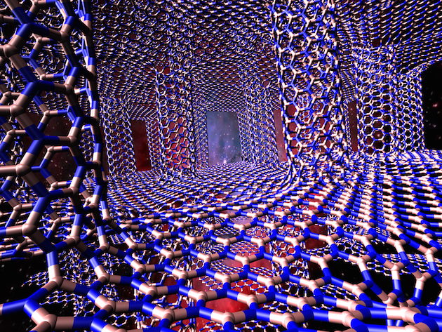 A 3-D structure of hexagonal boron nitride sheets and boron nitride nanotubes could be a tunable material to control heat in electronics, according to researchers at Rice University.