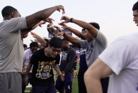 The Rice Owls football team continued its tradition of hosting Rice's new class of international students for a special football clinic. Around 200 students learned...