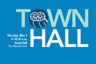Save the date: Spring town hall set for May 5