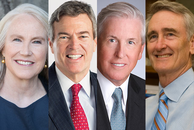 Rice alumni Ann Doerr, Robert Ladd and Scott W. Wise and former Rice board member James T. Hackett have been elected to the Rice Board of Trustees.