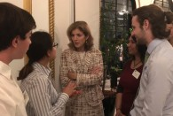 Students from Rice and other schools met with U.S. Ambassador to Japan Caroline Kennedy, the daughter of President John F. Kennedy, at a reception for the recipients of Fulbright Scholarships who are studying in Japan.