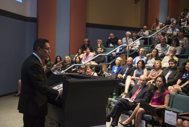"The significant demographic changes taking place in the U.S. and how they affect the electorate were the focus of Luis Ricardo Fraga's talk for the President's Lecture Series. He presented ""The Changing American Voter in 2016 and Beyond"" Sept. 22 in Duncan Hall's McMurtry Auditorium."