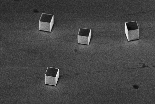 Rice scientists smash silver micro-cubes at near supersonic speeds to see how deforming their crystalline structures can make them both stronger and tougher. The research could lead to better materials for high-impact applications like bulletproof vests, vehicle collision protection and advanced material processing techniques.