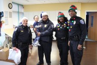 Members of RUPD and REMS delivered holiday gift bags to more than 20 kids at Shriners Hospital for Children – Houston.