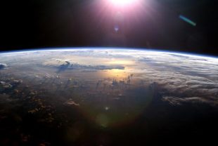 Earth's atmosphere, as seen in 2003 from the International Space Station