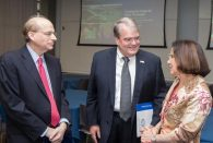 National Science Foundation Director France Córdova (right) and U.S. Rep. John Culberson, R-Texas (center), meet with Rice President David Leebron at an April 11 reception […]