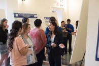 Students in the School of Humanities and School of Social Sciences' joint Health, Humanism and Society Scholars program shared the research projects they've worked on this academic year by giving oral and poster presentations at a reception held at the Humanities Building April 17.