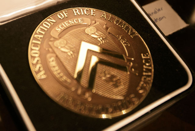 Rice trustee emeritus and alumna Lynn Laverty Elsenhans '78 and longtime professor Dennis Huston will receive the Association of Rice Alumni's (ARA) highest award — the Gold Medal — for their extraordinary service to the university at this year's annual ARA Laureates Dinner May 13.