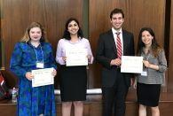 Research projects on campaign behavior during early voting and fake followers on Twitter were among the award-winning poster presentations at the 16th Rice Undergraduate Research Symposium (RURS) April 12.