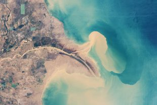 Yellow River delta, as seen from space