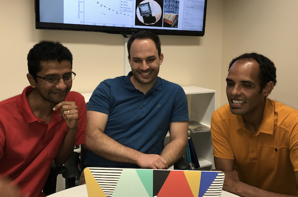 Rice engineering professors (from left) Ashok Veeraraghavan, Jacob Robinson and Caleb Kemere are part of a DARPA program to create a high-resolution, wireless neural interface that can be implanted on the cortex.