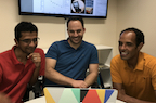 Rice University engineering professors (from left) Ashok Veeraraghavan, Jacob Robinson and Caleb Kemere are part of a DARPA program to create a high-resolution, wireless neural interface that can be implanted on the cortex.