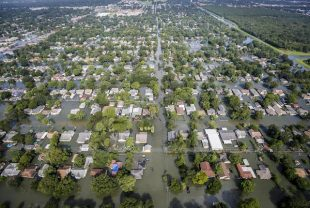 aerial view of flooding from Harvey