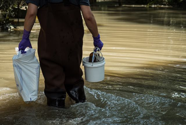 Rice's civil and environmental engineering faculty and graduate students collected floodwaters left by Tropical Storm Harvey for days to preserve a record of the storm's impact.